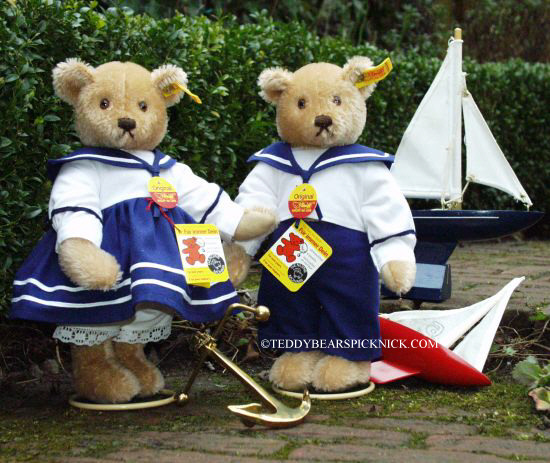 Steiff Sailor Boy and Girl